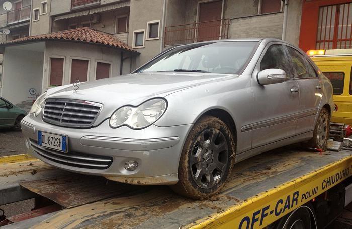 La Mercedes intercettata sulla Paloscana a Bolgare