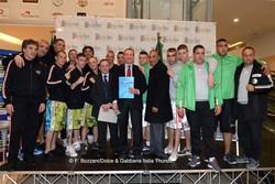 Foto di gruppo: Official Weign In Dolce & Gabbana Italia Thunder vs Algeria Desert Hawks