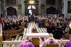I funerali del prof. Lucio Parenzan