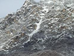 Valbondione: una delle valanghe scese dal Pizzo Redorta sopra Gavazzo