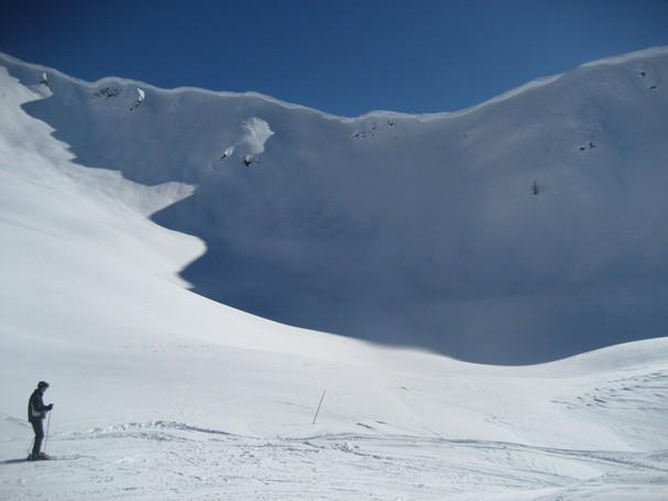 Cresta in cima al Conca Nevosa