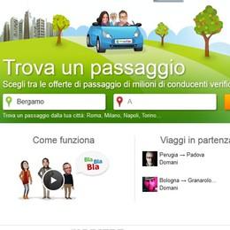 Condividere il viaggio in  auto  Bergamo seconda nel Ride sharing