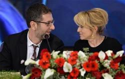 Luciana Littizzetto con Fabio Fazio