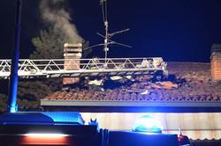 L'intervento dei vigili del fuoco a Romano