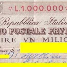 Ritrova un buono postale del 1975  «Le Poste rimborsino 120mila €»