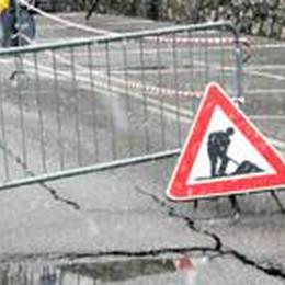 Senso unico alternato a Berbenno  sulla sp 17 Ponte Giurino-Blello