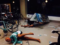 Ecco come si presentava il negozio di Torre Boldone dopo il furto delle bici