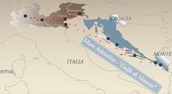 La collocazione geografica delle opere di difesa veneziane che entreranno nel Patrimonio Mondiale dell'Unesco