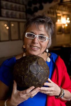 Giuliana con la Soccer Ball di Louis Vuitton