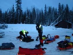 Il campo allestito in Alaska da Roberto Aldovini