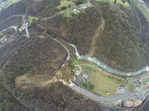 La frana a Ponte Giurino di Berbenno