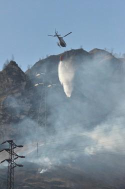 Elicottero in azione