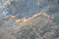 L'ncendio a Ponte del Costone