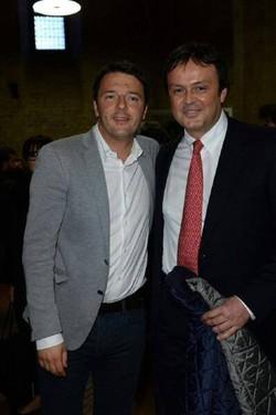 Il premier Renzi con Antonio Gavazzeni