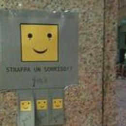 Vetrine tappezzate di Smile  Campagna «Strappa un sorriso»