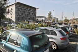 Il parcheggio dell'ospedale