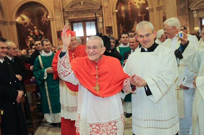 La gioia del cardinale Loris Capovilla