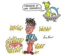 Ufo a Pagazzano? La vignetta di Luca Nosari