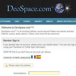 «Deospace», social cattolico
