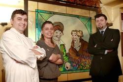 Da sinistra Darwin, Barbara e Alioscha Foglieni.