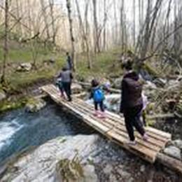 All'asilo vanno a piedi nel bosco  Sono i bambini della Val Taleggio