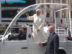 Papa Francesco durante l'udienza generale del 26 marzo