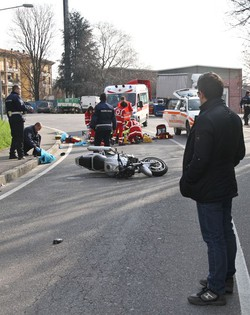L'incidente mortale in via Monte Gleno