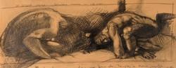 Quadro del pittore Paolo Cattaneo «Il girone degli usurai»