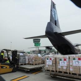 300 tonnellate di aiuti umanitari  Volo solidale da Orio a Bangui