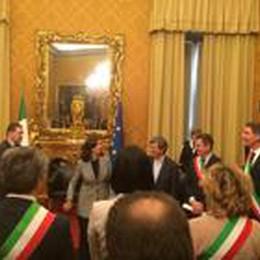La proposta di legge «No-Slot»  Firme consegnate  a Laura Boldrini