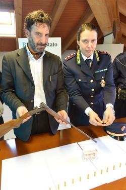 Il fucile sequestrato al 78enne di Caravaggio