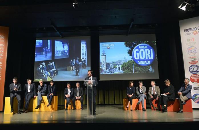 La presentazione della candidatura di Giorgio Gori a sindaco di Bergamo