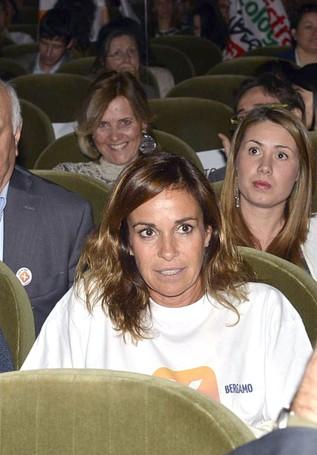 In platea Cristina Parodi, moglie di Giorgio Gori