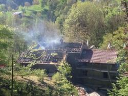 L'incendio a Brembilla