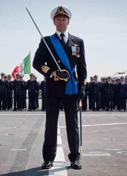 Il loverese Luca Conti, comandante della portaerei Cavour