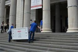 L'arrivo dei quadri della Carrara a Mosca