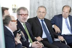 Un momento della presentazione del padiglione Lombardia a Vinitaly 2014, avvenuta a Palazzo Pirelli Milano