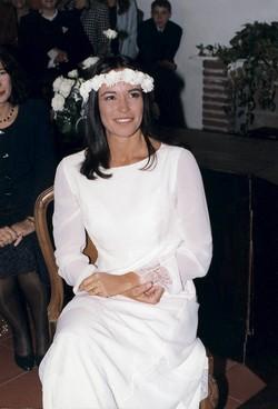 Cristina Parodi il giorno del suo matrimonio