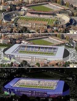 Lo stadio di Bergamo com'è e come potrebbe essere