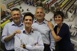 Da sinistra Walter Danne e Gianni, Franco e Roberta Togni