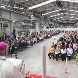 Primo Maggio con i lavoratori  Messa con il vescovo alla Framar
