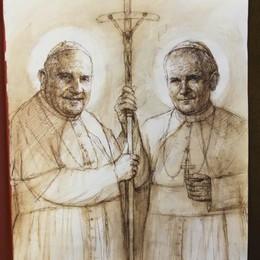Un proiettore 3D per Bergamo  Così la diretta della canonizzazione