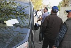 Macchine multate in via Buttar