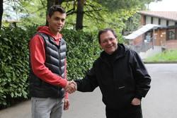 Alberto Grassi con don Fausto Resmini