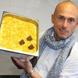 Il gelato al risotto alla milanese Il Pandizucchero celebra il 1° maggio