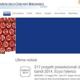 Fondazione  Comunità Bergamasca  Preselezionati 217 progetti