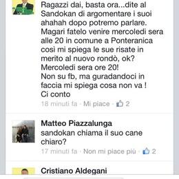 Ragazzo commenta su Facebook  E il sindaco lo chiama Sandokan