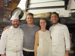 I fratelli Bucci al centro con gli chef Luca Borelli eVito Antonio Tota