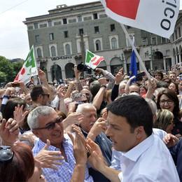 Renzi: «Bergamo può cambiare passo»  Tentorio attacca: visita da segretario Pd