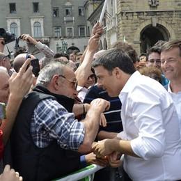 Renzi: vi chiedo di crederci  «Dobbiamo convincere Bergamo»